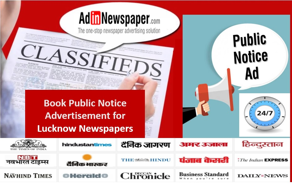 make hassle free public notice ad booking for lucknow via online