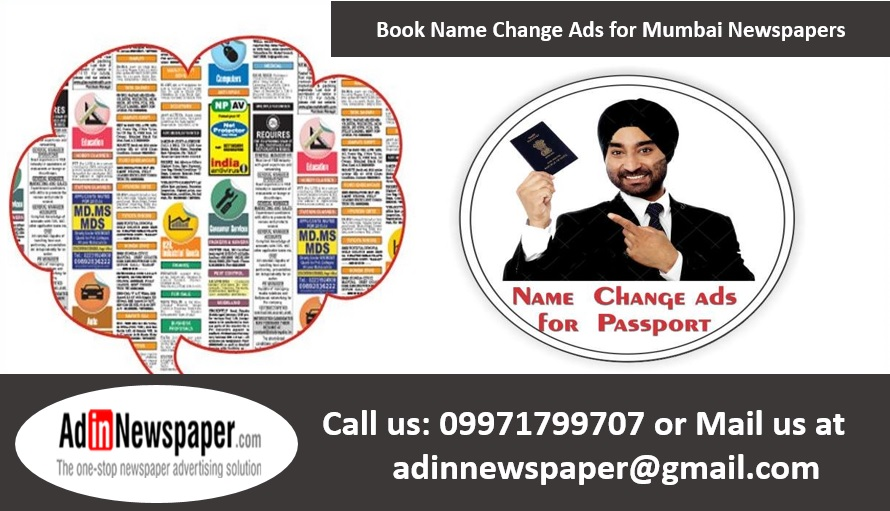Name Change Ads in Mumbai