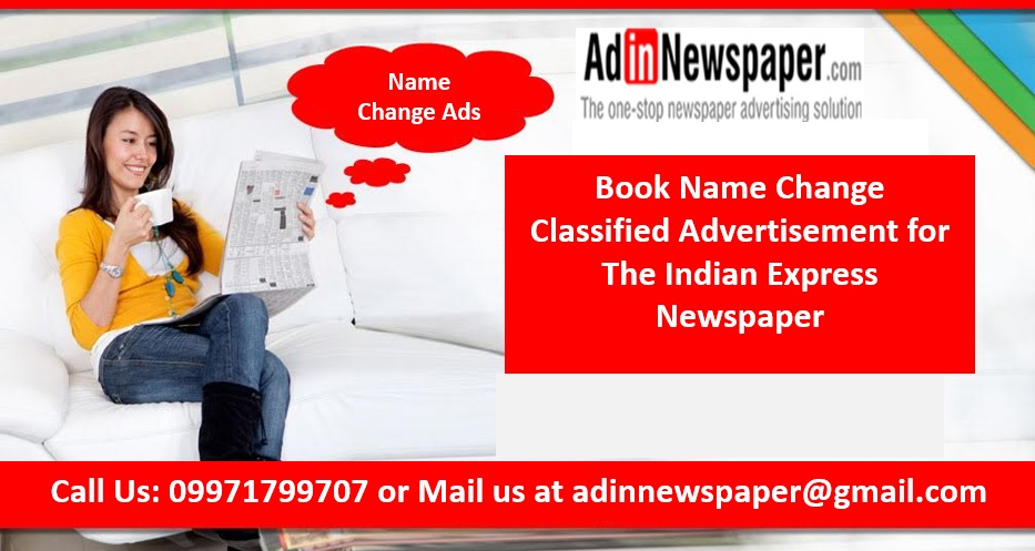 The Indian Express Change of Name Ads