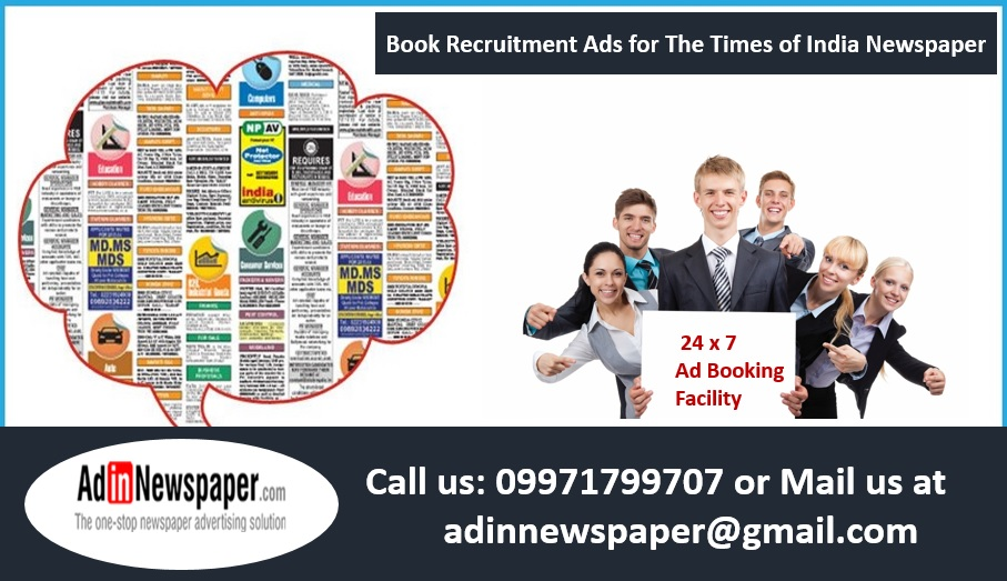 Times of India Recruitment Ads