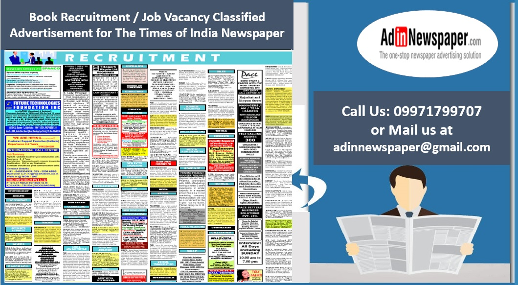 placing recruitment ads in the times of india for mutual benefits