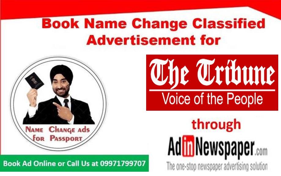 The Tribune Name Change Advertisement