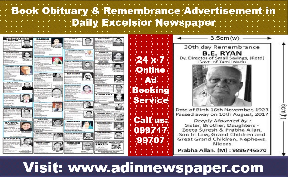 Daily Excelsior Obituary Ads