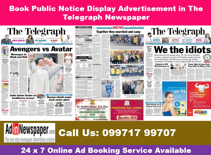 The Telegraph Public Notice Display Ads