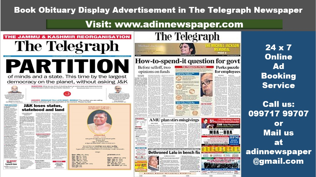 Telegraph Obituary Display Ads