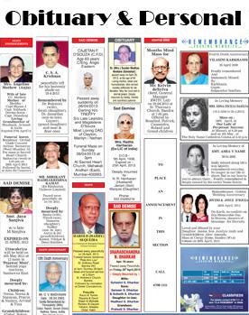 Times of India Obituary Display Ads - Adinnewspaper