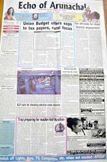 Echo Of Arunchal Classified Advertisement Booking Online